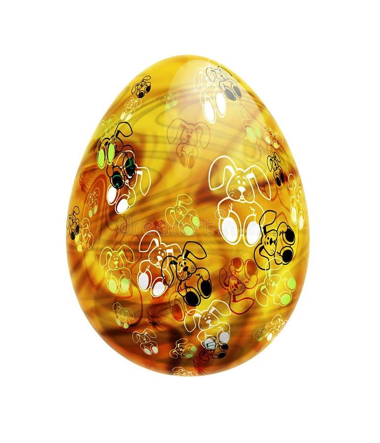 γυαλί αυγών Πάσχας απεικόνιση αποθεμάτων