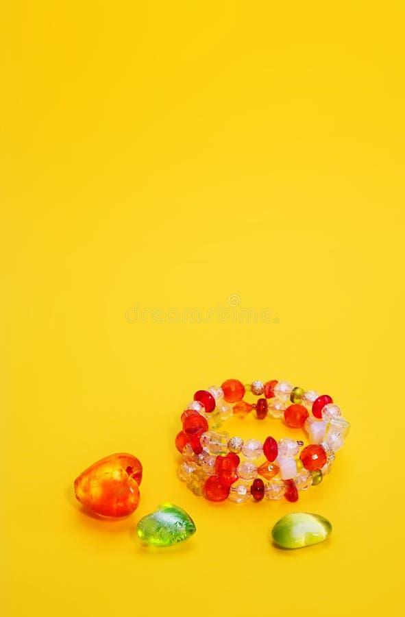 γυαλί βραχιολιών χαντρών στοκ εικόνα