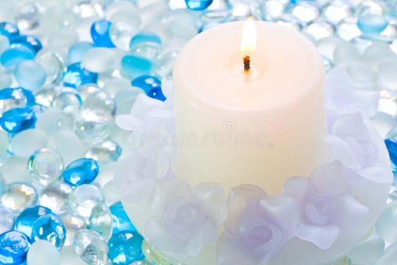 γυαλί κεριών σφαιρών στοκ φωτογραφία