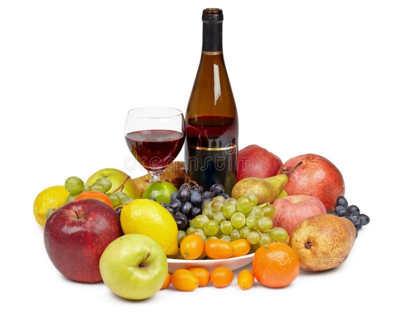 γυαλί κρασί καρπού μπουκ&a στοκ φωτογραφίες με δικαίωμα ελεύθερης χρήσης