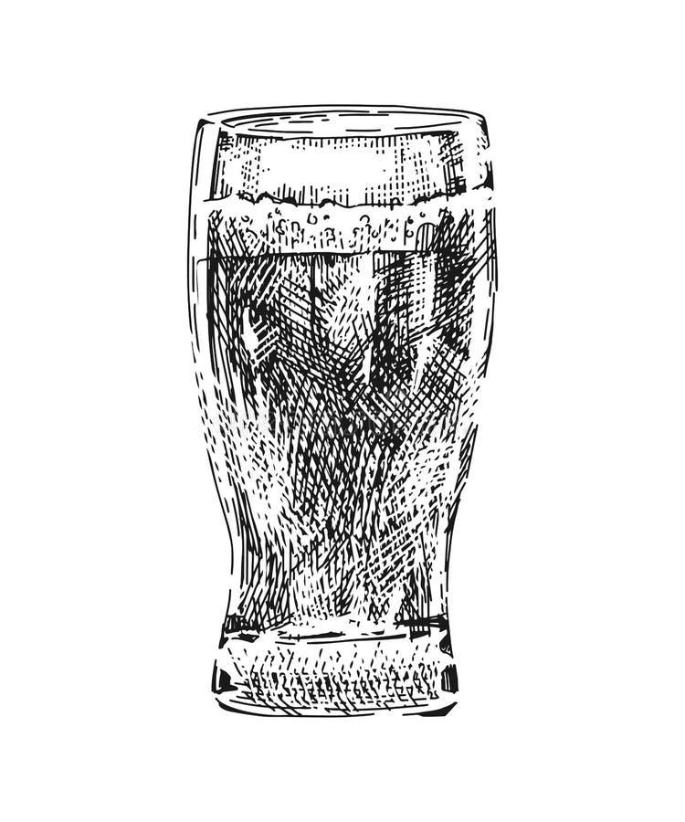 Γυαλί μπύρας πραγματικό απεικόνιση αποθεμάτων
