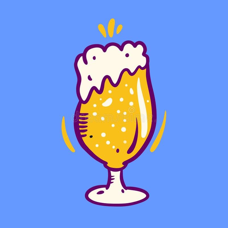 Γυαλί μπύρας Συρμένη χέρι διανυσματική απεικόνιση Oktoberfest r ελεύθερη απεικόνιση δικαιώματος