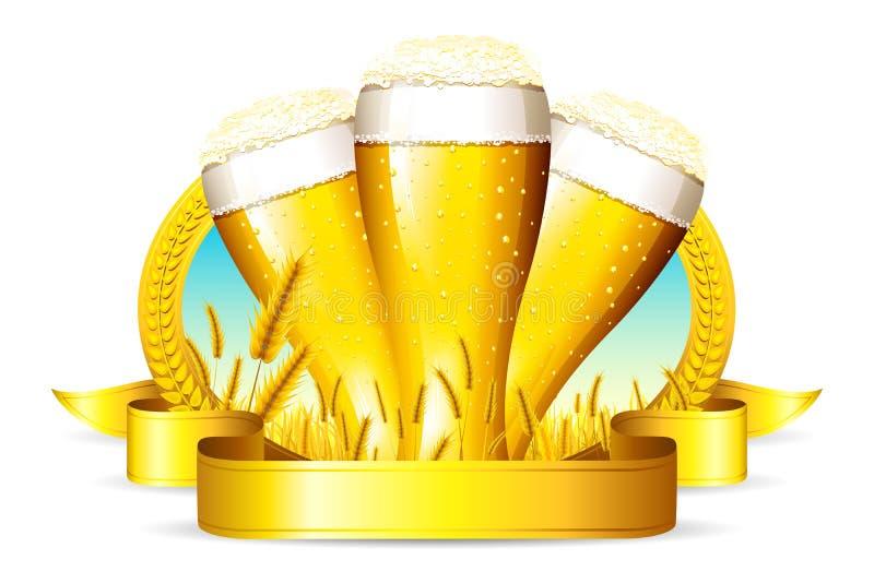 Γυαλί μπύρας διανυσματική απεικόνιση
