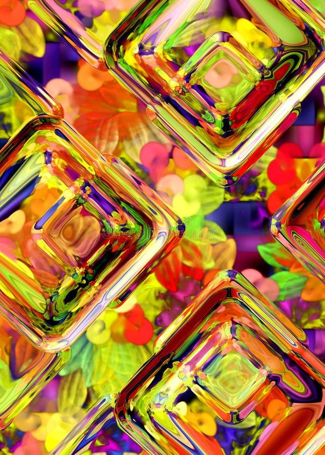 γυαλί χρώματος διανυσματική απεικόνιση