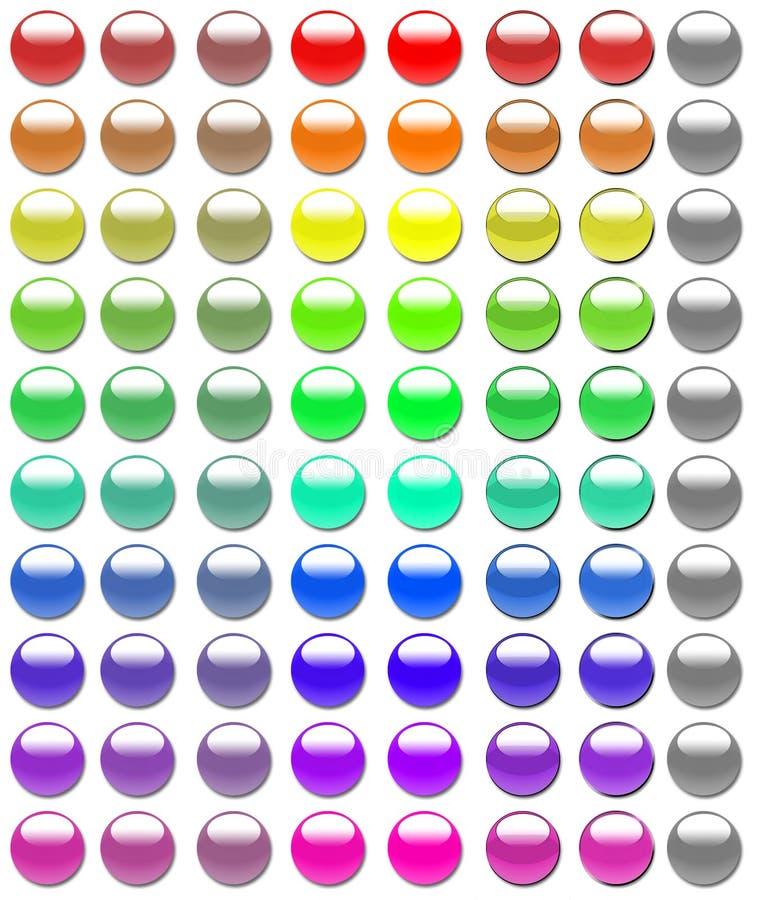 γυαλί 80 κουμπιών στοκ εικόνες
