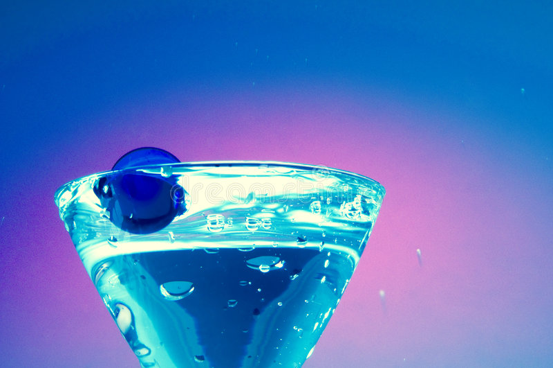 γυαλί martini κοκτέιλ στοκ φωτογραφία