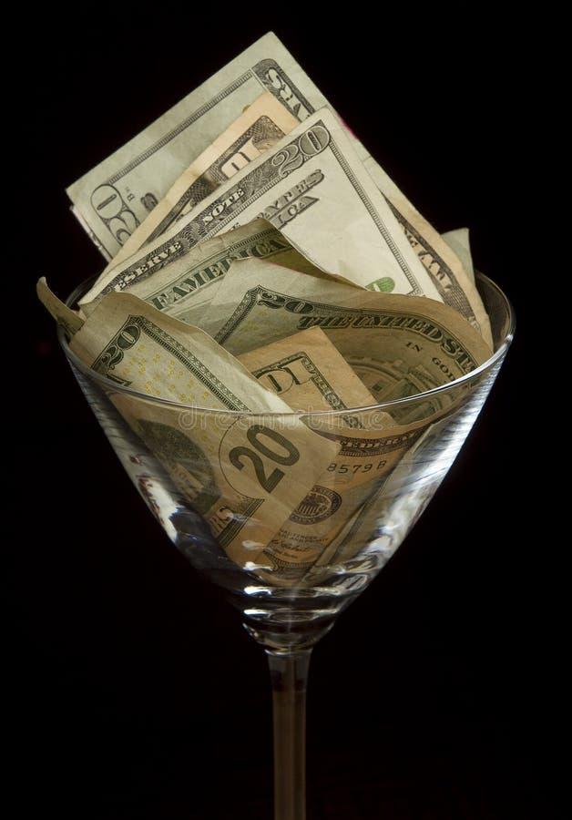 γυαλί martini λογαριασμών στοκ εικόνες