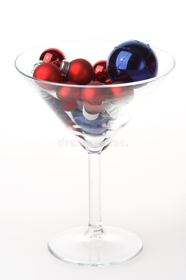 γυαλί martini Χριστουγέννων μπι& στοκ φωτογραφία με δικαίωμα ελεύθερης χρήσης