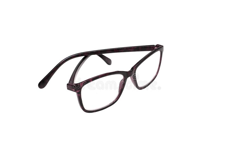 Γυαλιά απομονωμένα σε λευκό στοκ εικόνα με δικαίωμα ελεύθερης χρήσης