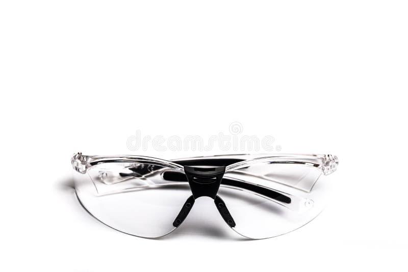 Γυαλιά ασφάλειας Plastick για τη οικοδομή που απομονώνεται στο άσπρο backdround - εικόνα στοκ φωτογραφία με δικαίωμα ελεύθερης χρήσης