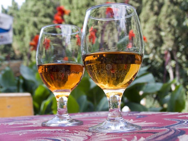γυαλιά δύο κρασί στοκ εικόνα με δικαίωμα ελεύθερης χρήσης