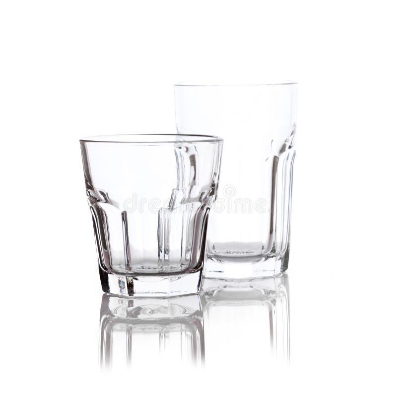 γυαλιά δύο ποτών στοκ εικόνα με δικαίωμα ελεύθερης χρήσης