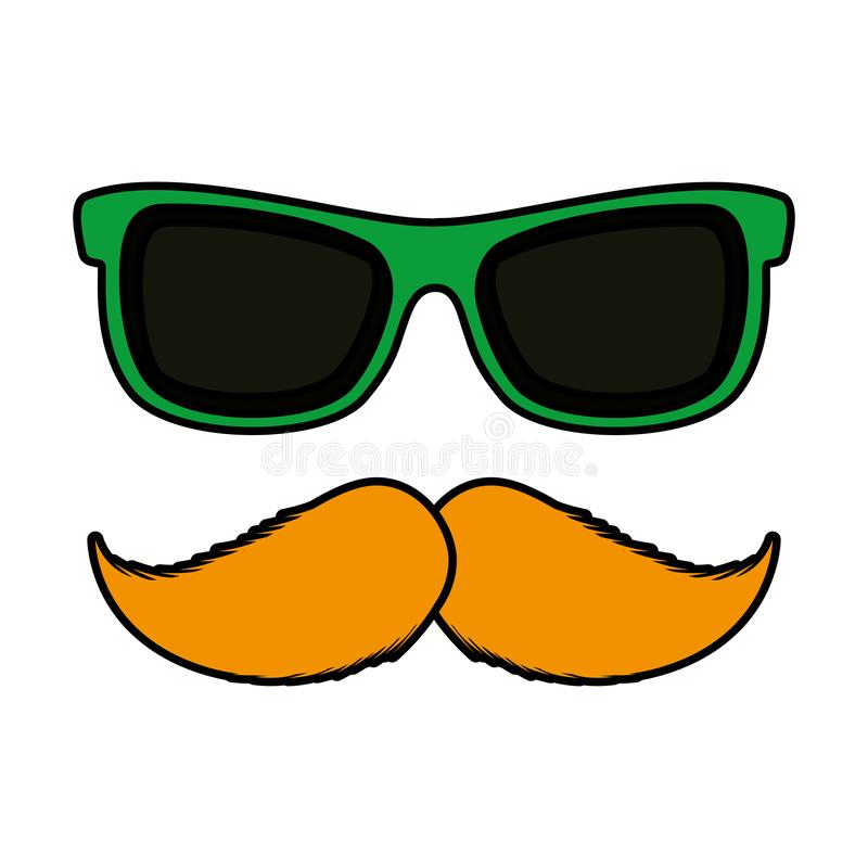 Γυαλιά ηλίου και mustache βοηθητικό εικονίδιο ελεύθερη απεικόνιση δικαιώματος