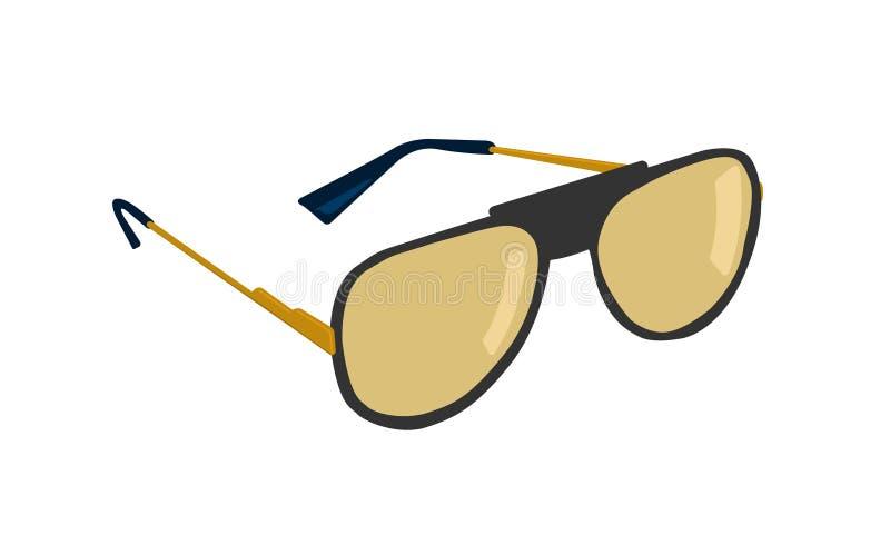 Γυαλιά ηλίου που απομονώνονται στο άσπρο υπόβαθρο r απεικόνιση αποθεμάτων