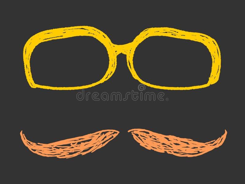 Γυαλιά και Moustache ελεύθερη απεικόνιση δικαιώματος