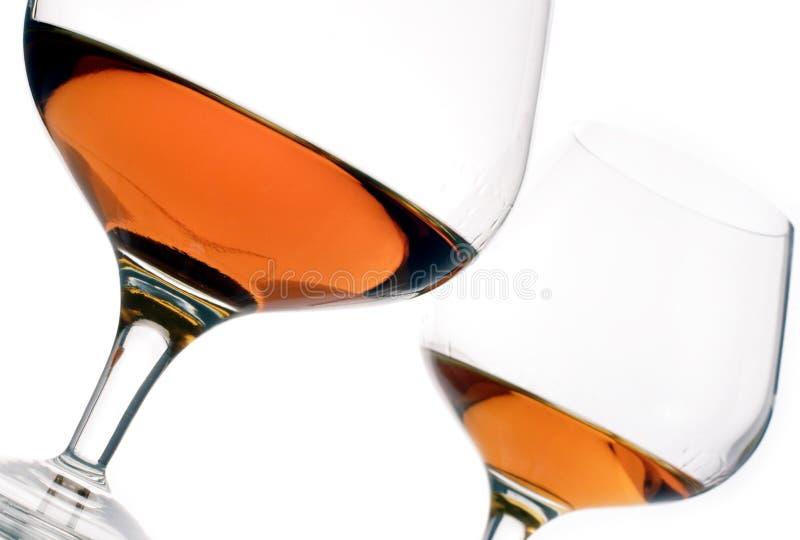 γυαλιά κονιάκ στοκ εικόνα