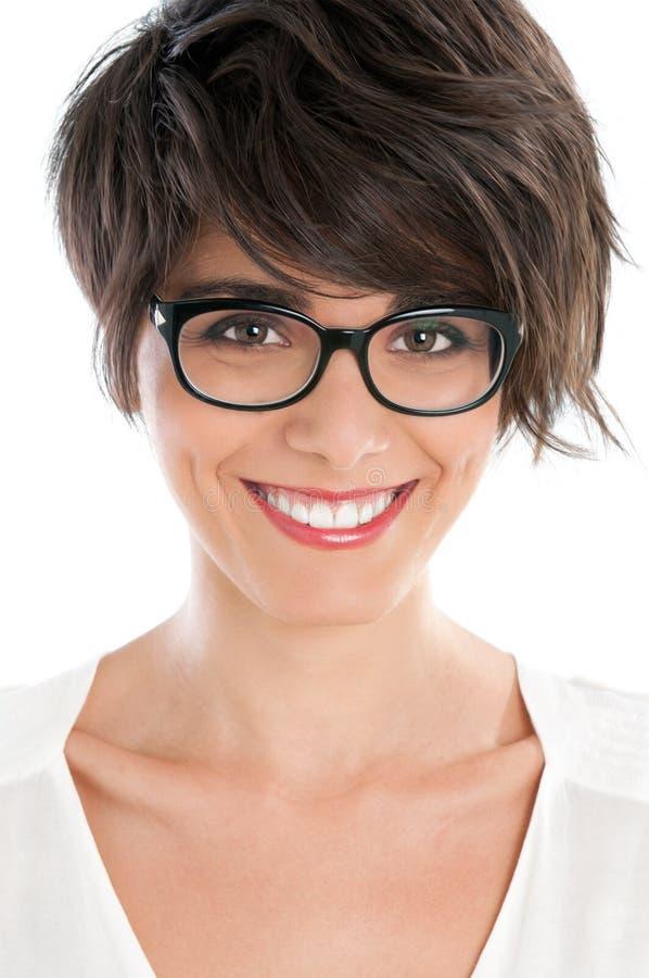 γυαλιά κοριτσιών ευτυχή στοκ εικόνα με δικαίωμα ελεύθερης χρήσης