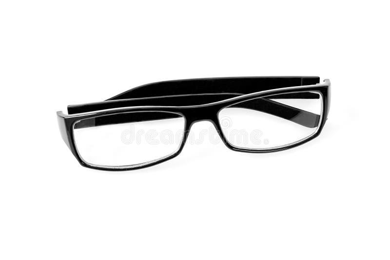 Γυαλιά μαυρισμένων ματιών που απομονώνονται στο λευκό στοκ φωτογραφίες