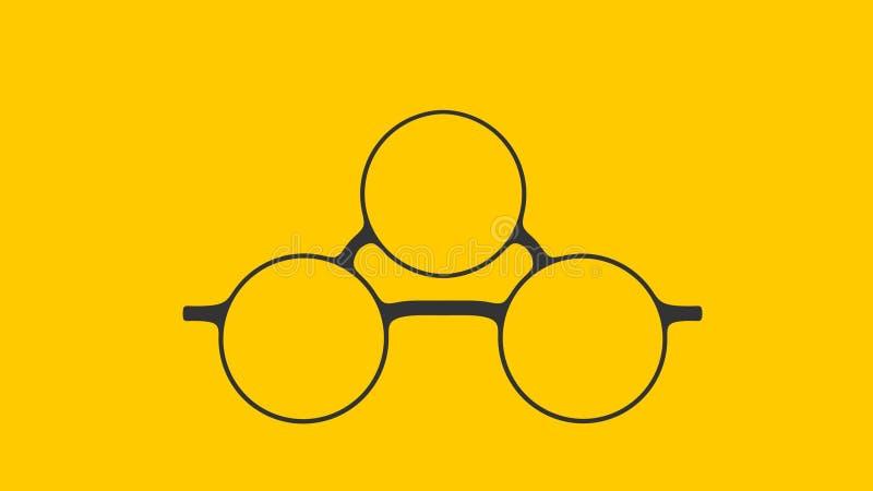 Γυαλιά με το τρίτο μάτι διανυσματική απεικόνιση