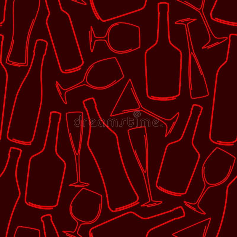 γυαλιά μπουκαλιών διανυσματική απεικόνιση