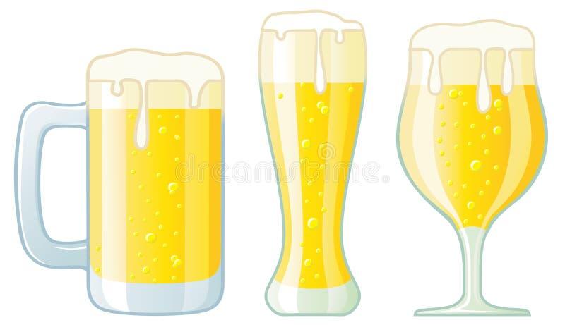γυαλιά μπύρας διάφορα διανυσματική απεικόνιση