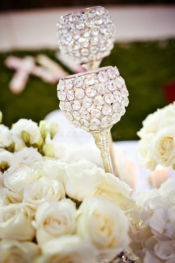 Γυαλιά που τίθενται γαμήλια στοκ φωτογραφία