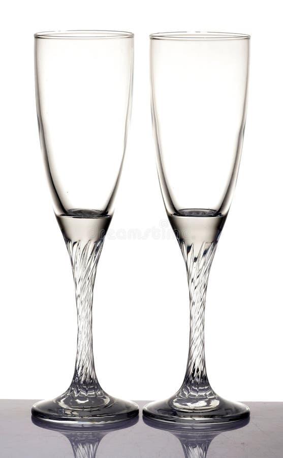γυαλιά σαμπάνιας στοκ εικόνα