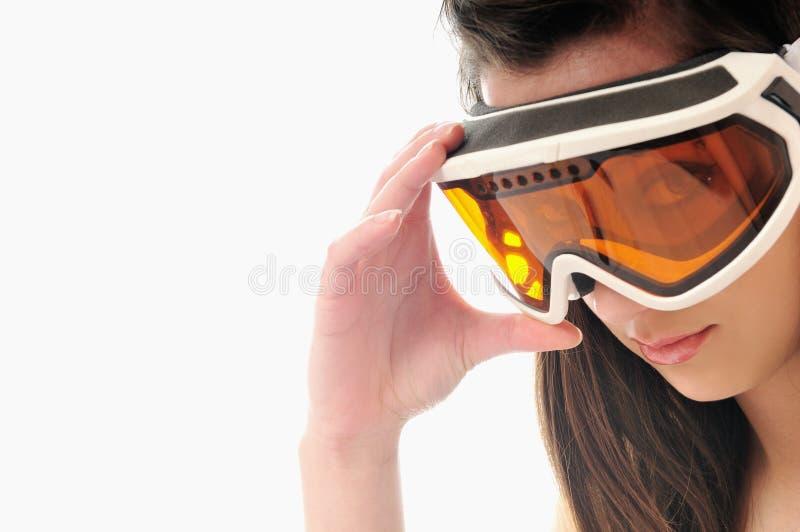 Γυαλιά σκι γυναικών στοκ φωτογραφία με δικαίωμα ελεύθερης χρήσης