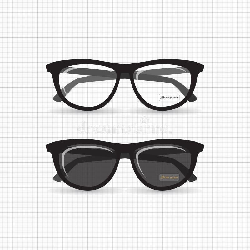 Γυαλιά Hipster απεικόνιση αποθεμάτων