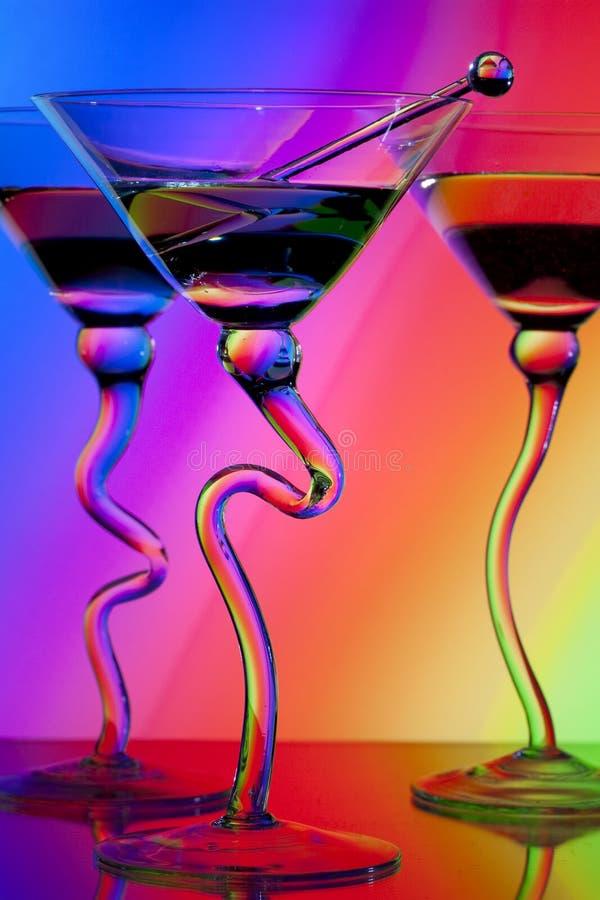 γυαλιά martini τρία στοκ εικόνα με δικαίωμα ελεύθερης χρήσης