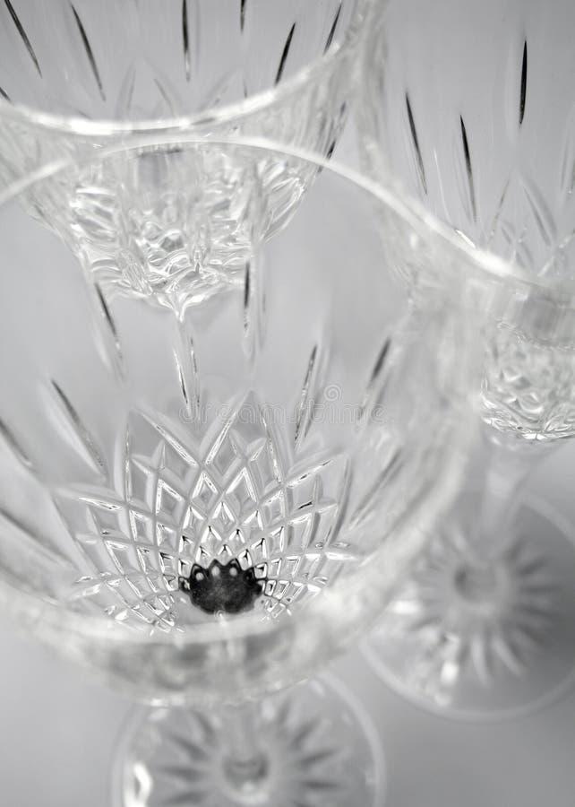 γυαλικά κρυστάλλου στοκ εικόνα με δικαίωμα ελεύθερης χρήσης