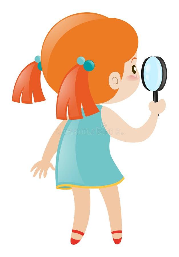 γυαλί κοριτσιών που κρα&tau διανυσματική απεικόνιση