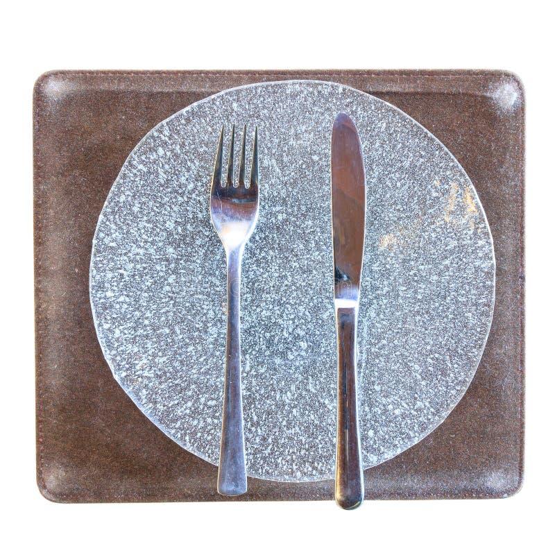 Γυαλί πιάτων ασημικών και φυσαλίδων στοκ φωτογραφίες