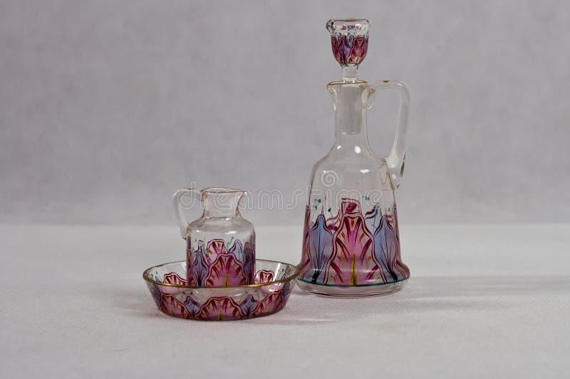 Γυαλί Nouveau τέχνης - μπουκάλι αρώματος - 1900 -1905 στοκ εικόνες με δικαίωμα ελεύθερης χρήσης
