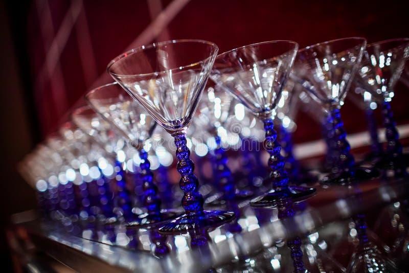 Γυαλιά γαμήλιου CHAMPAGNE στοκ φωτογραφία