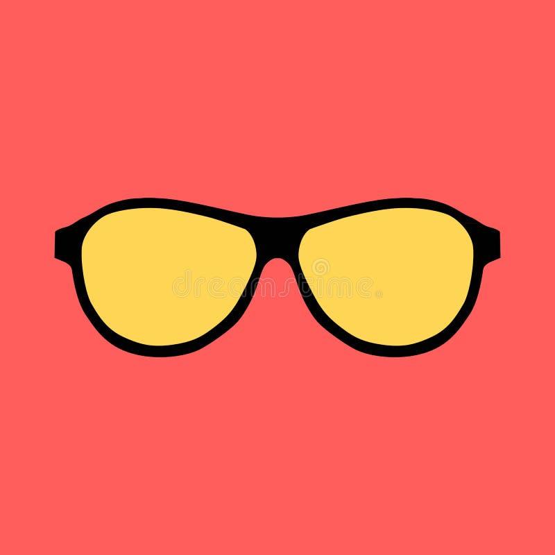 Γυαλιά ηλίου Hipster καθορισμένα ελεύθερη απεικόνιση δικαιώματος