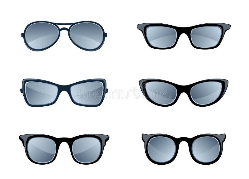 Γυαλιά καθορισμένα ελεύθερη απεικόνιση δικαιώματος
