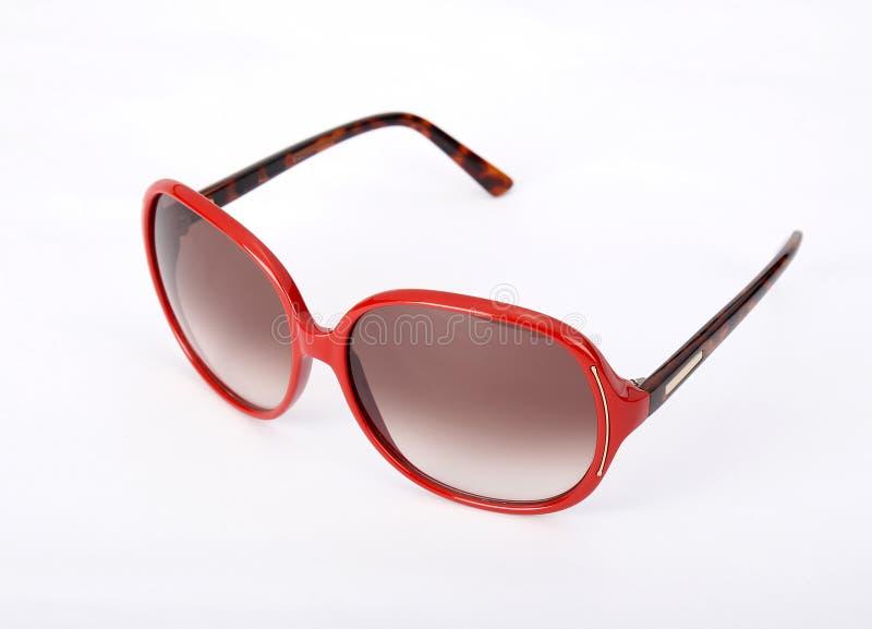 Γυαλιά κόκκινα ήλιων στοκ εικόνες
