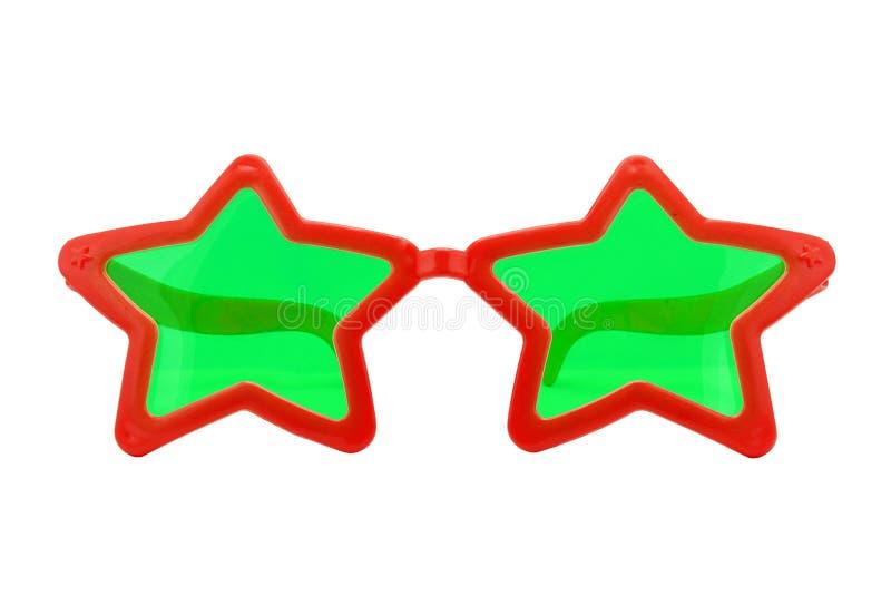 Γυαλιά κόμματος, μορφή αστεριών στοκ εικόνα