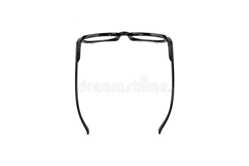 Γυαλιά μαυρισμένων ματιών που απομονώνονται στο λευκό στοκ εικόνες