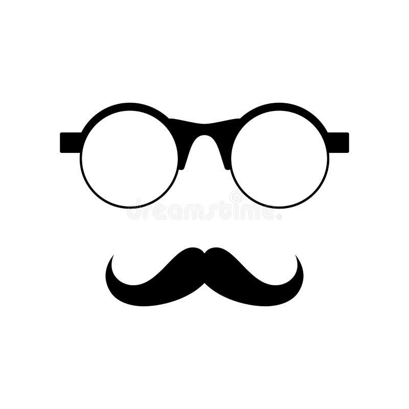 Γυαλιά με το mustache διανυσματική απεικόνιση