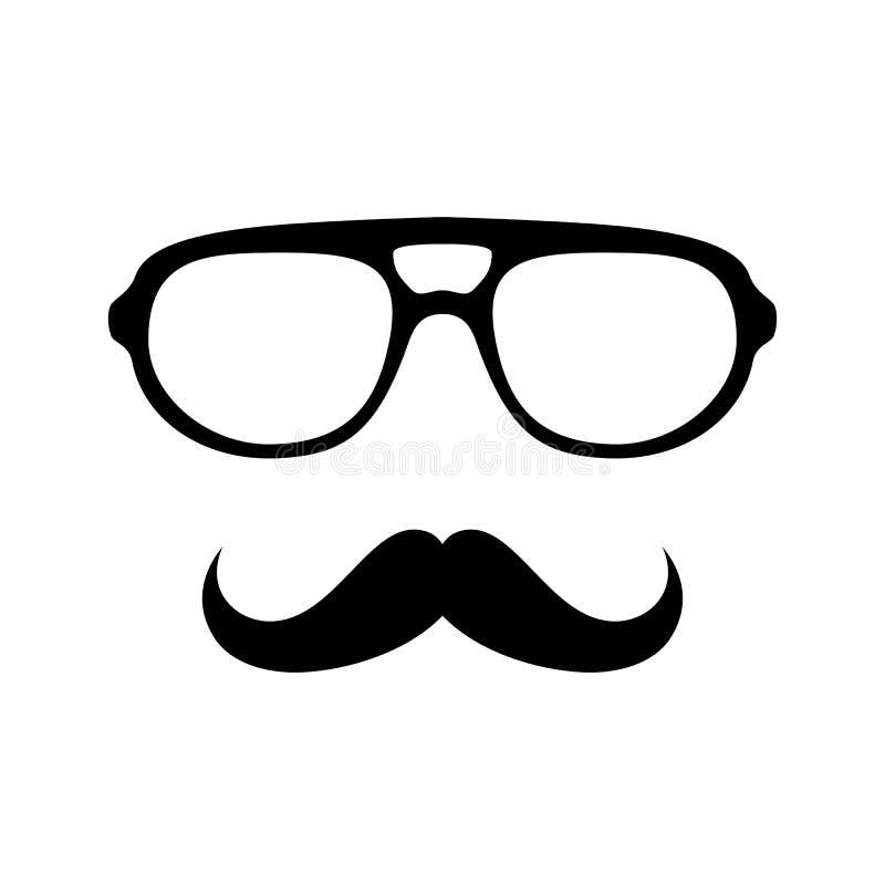 Γυαλιά με το mustache απεικόνιση αποθεμάτων