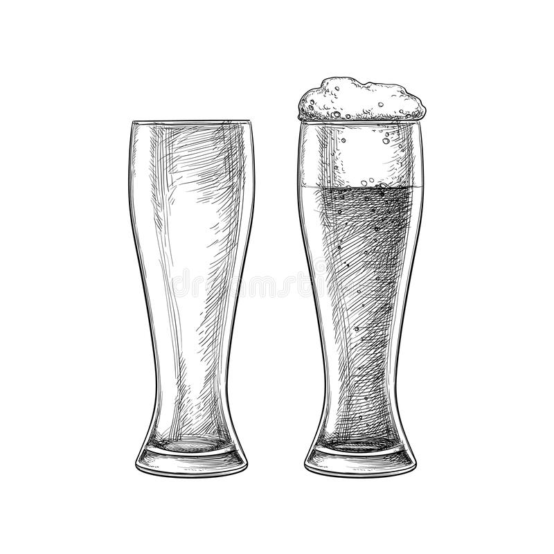 γυαλιά μπύρας που απομονώ απεικόνιση αποθεμάτων