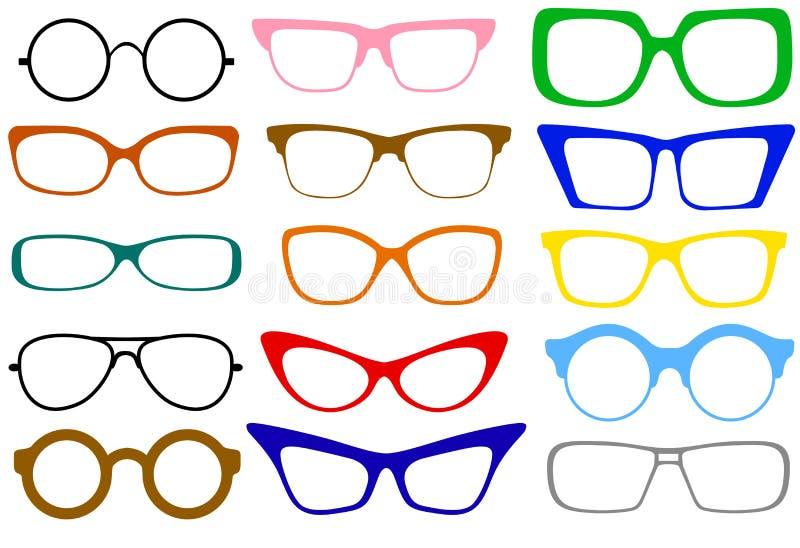 γυαλιά που τίθενται διανυσματική απεικόνιση