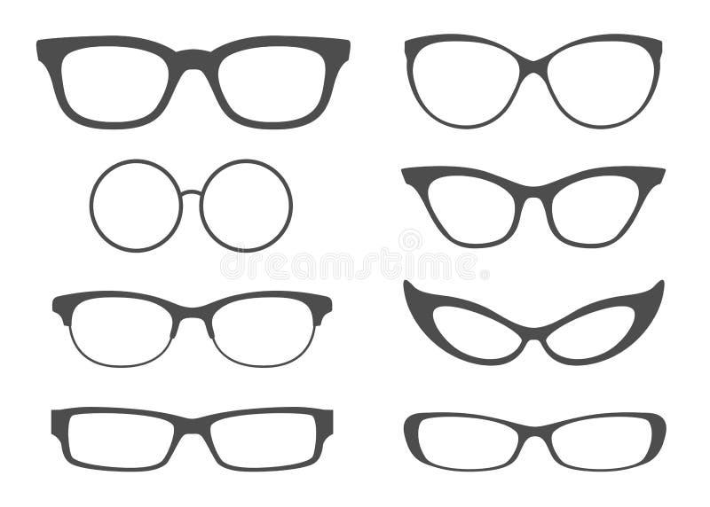 Γυαλιά που τίθενται ελεύθερη απεικόνιση δικαιώματος