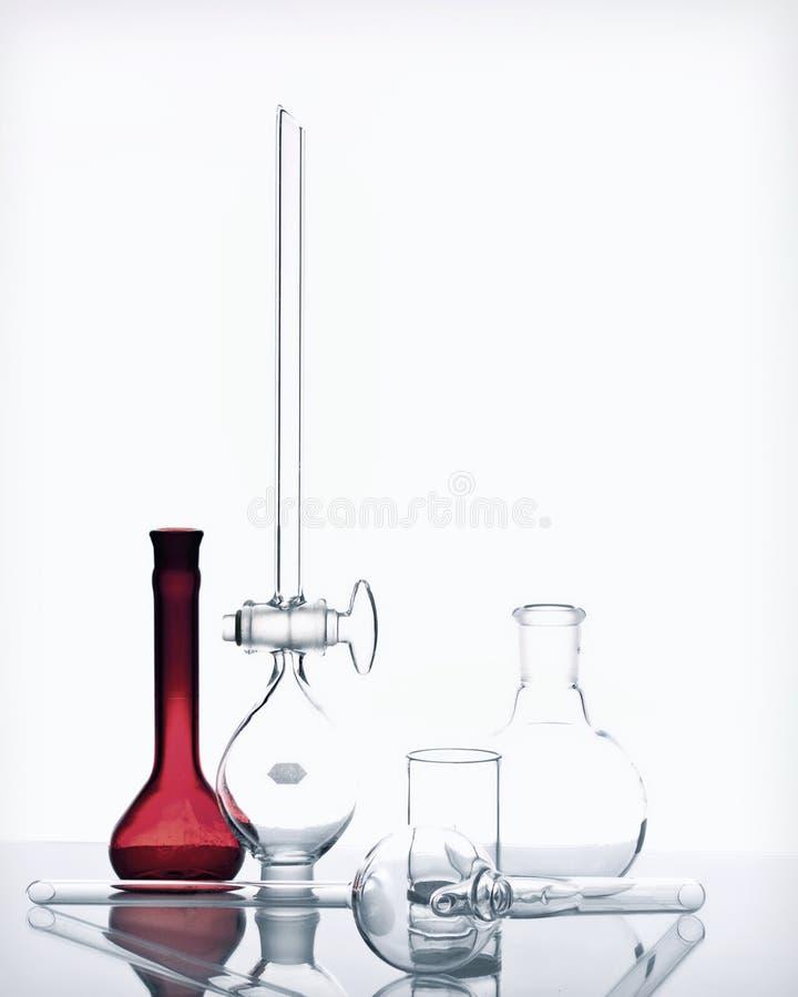 Γυαλικά χημείας στοκ εικόνα με δικαίωμα ελεύθερης χρήσης