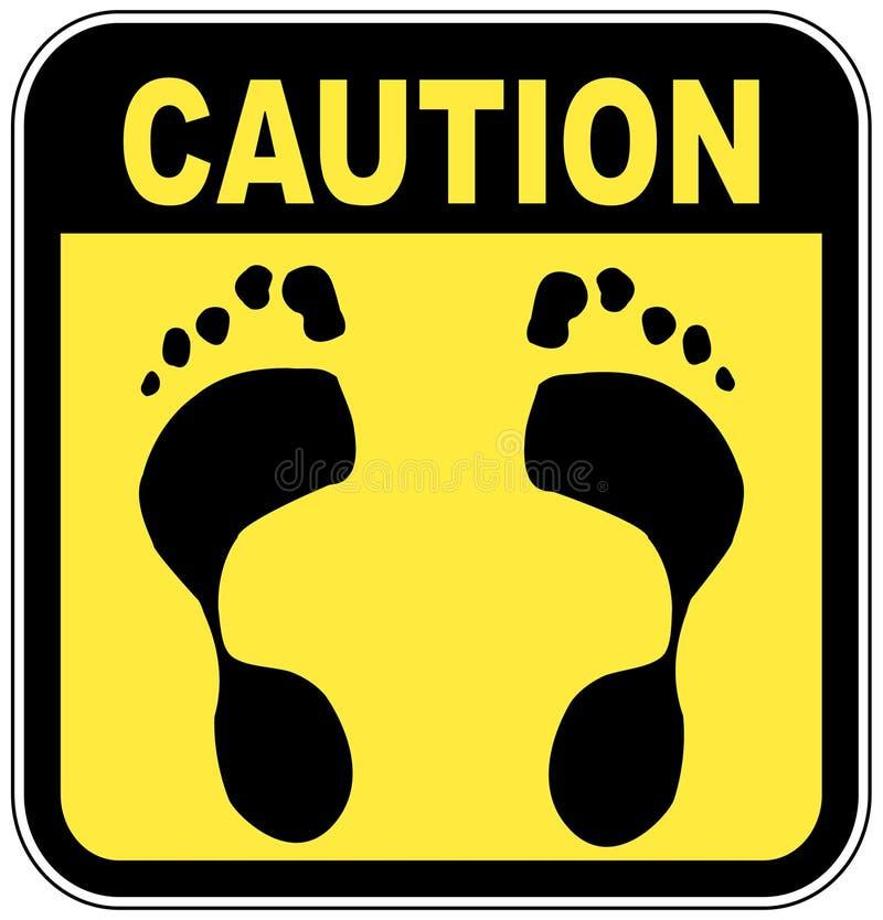 γυμνά πόδια κανένα σημάδι απεικόνιση αποθεμάτων