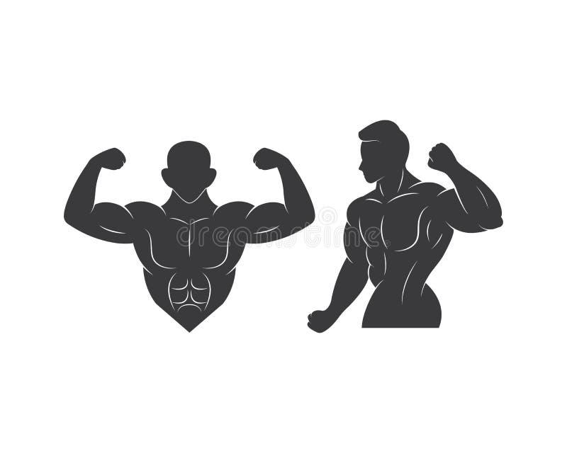 γυμναστική, διάνυσμα προτύπων απεικόνισης λογότυπων εικονιδίων ικανότητας απεικόνιση αποθεμάτων
