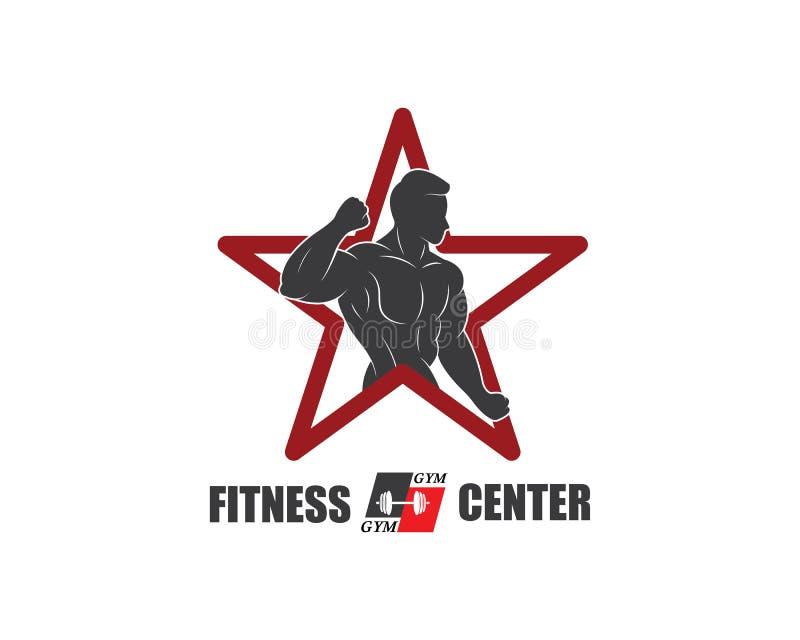 γυμναστική, διάνυσμα προτύπων απεικόνισης λογότυπων εικονιδίων ικανότητας διανυσματική απεικόνιση