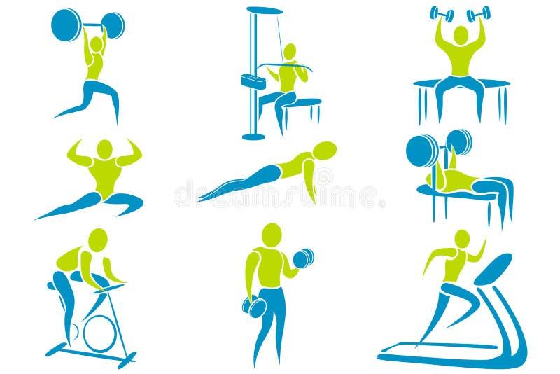 γυμναστική δραστηριότητα&s απεικόνιση αποθεμάτων